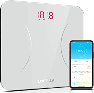 LOFTILLA Weight Scale, Digital Bathroom Scales for Body Weight, Bluetooth Smart BMI Scale with App, 400 lbs Max, High Prec...