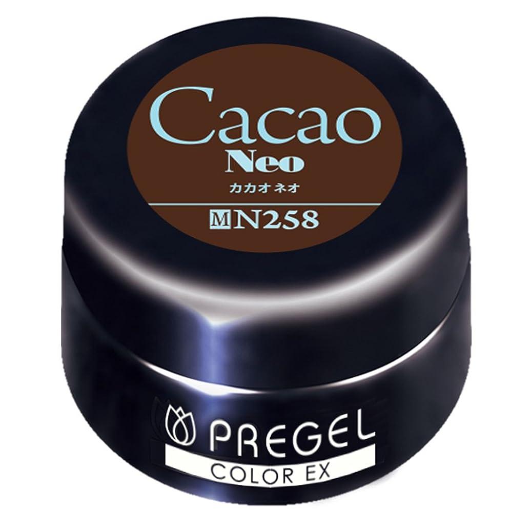 軽く非難ワイプPRE GEL カラーEX カカオneo 258 4g UV/LED対応