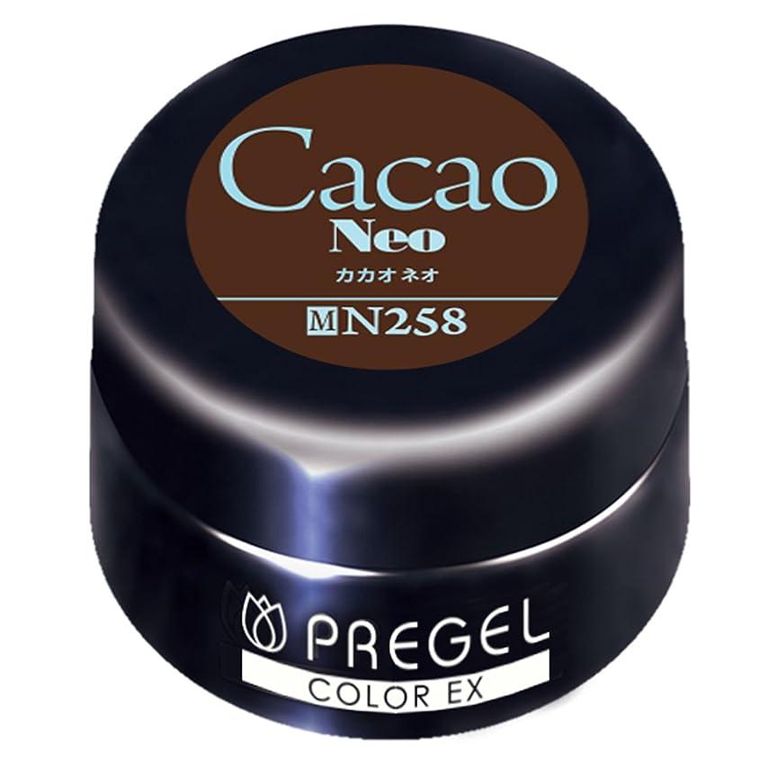 ステートメント迫害する子音PRE GEL カラーEX カカオneo 258 4g UV/LED対応