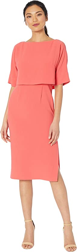 Cameron Crepe Popover Sheath Dress
