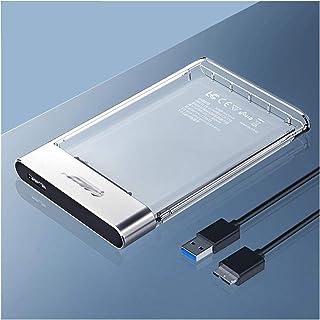 CMDZSW Hard Disk Box 2,5 inch Transparent USB 3.0 Hard Disk Box Tool Metal SATA 6Gbps Ondersteuning 4TB UASP Box HD Box (C...