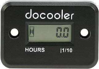 Digital Meter Horas LCD calibre para a Corrida do motor de gasolina da motocicleta ATV Mower Snowmobile 0,1 / 99999Hrs Preto