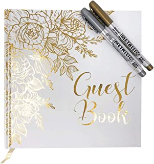Best white and gold wedding guest book Reviews
