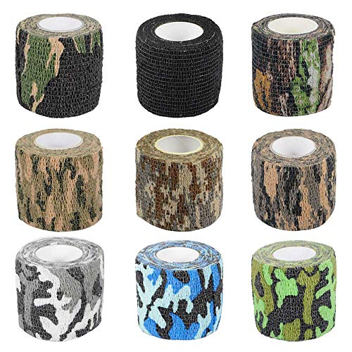 Gexgune Tactical Camo Stretch Tape Bandage Camping Jagd Camouflage Tape Militär Erste Hilfe Bandage Shooting Gun Paintball Zubehör