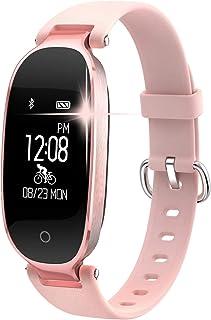 comprar comparacion Pulsera Monitor de Actividad Pulsómetro y Podómetro para Mujeres Impermeable IP67, con Bluetooth Contador de Pasos y Monit...