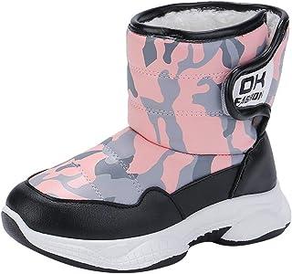 Jeunes Bottes Chaussure Lacée//Fermeture Velcro Plat Hiver Loisirs Chaussures Enfants