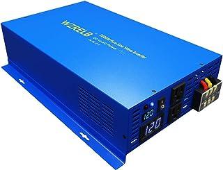 WZRELB Pure SINE Wave Inverter 2500 Watt (5000W Surge) 12V Power Inverter DC to 120 AC Car, Solar, Off-Grid, RV, Portable ...