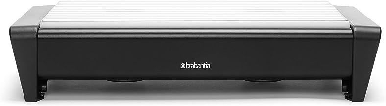 Brabantia 477140 Chauffe-Plat 2 Bougies + Grille Grise Noir Satiné