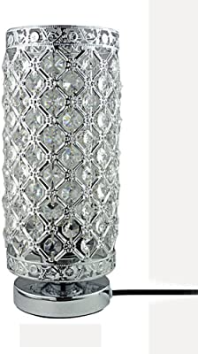 Zeefo Crystal Table Lamp Nightstand Decorative Room Desk