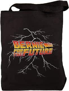 Election 2020 Sanders Bernie For the Future Black Canvas Tote Bag