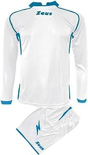 520926e737d65d Kit Zeus Sparta Bianco-Royal Completino Completo Calcio Uomo Donna Calcetto  Muta Torneo Scuola Sport
