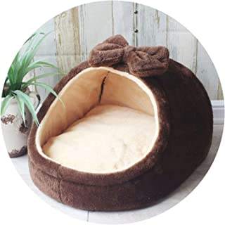 Pet Bed Dog House Kennel Puppy Cat Litter Bed Home Shape Nest Sofa Indoor Small Dogs Cats Cushion Removable Pillow Chihuahua Mat