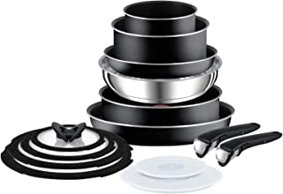 Tefal Ingenio Essential 14 Piece Pots and Pans Set, Black- Not compatible with induction hob