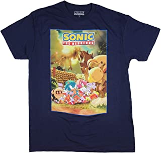 Sonic Hedgehog Shirt Costume Poster Men's Graphic Sonic Amy Rose Tails Tee
