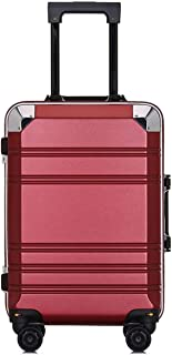 """Stylish and durable Wheels Travel Rolling Boarding,20""""24""""Inch 100% Aluminium Spinner Aluminium Convenient Trolley Case,Super Storage Luggage Bag, high quality (Color : Red, Size : 20inch)"""