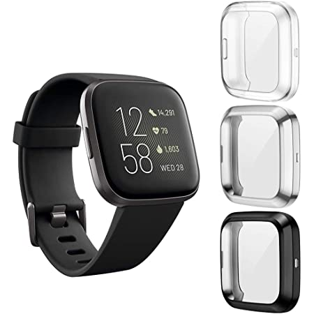 2019 For Fitbit Versa 2 TPU Silicone Protective Case Cover Shell Armor Saver