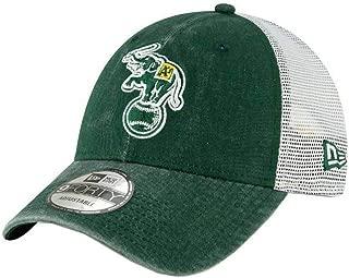 New Era 2019 MLB Oakland Athletics Baseball Cap Hat 1988 Cooperstown Truck Mesh Green/White