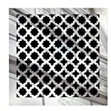 SABA Fiberglass Decorative Grille Vent Return Register Easy Air Flow Venetian Style Cover 6 inch x 6 inch (8' x 8' Overall). for Walls and Ceilings (not for Floor use), Mirror Finish