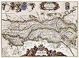 Large Posters MAP Antique 1664 Van Loon COMM GELDERLAND
