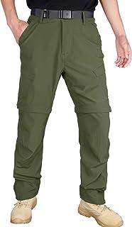 HARD LAND Men's Hiking Pants Convertible Quick Dry Fishing Pants Summer Lightweight Climbing Pants with Belts
