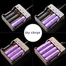 18650 Intelligent Smart Battery Charger 4Bay, Universal Smart Rechargeable Battery Charger 4 Slot Fast Charging Rechargeable for Rechargeable Batteries Li-ion Batteries 18650 18490 18350 17670 17500