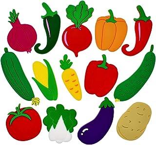 Tinksky 14点セット 冷蔵庫マグネット ステッカー 磁気 磁石 野菜 かわいい 装飾 子供 おもちゃ 貼り付け 掲示板 ホワイトボード カレンダー ホーム キッチン オフィス インテリア