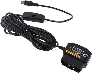Homyl Adaptadores Duráveis 12 / 24V a 5V 2.1A Car Dash Cam Hardwire Cabo DVR OBD