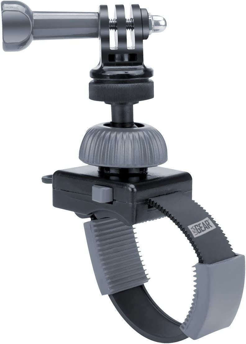 USA GEAR Action Camera Free shipping on posting reviews Handlebar with Tripod Arlington Mall Mount Zip-Tie Screw