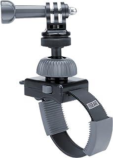 USA Gear Acción Cámara Manillar Montaje Zip-Tie con Tornillo de Trípode Adaptador y Cabezal Giratorio - Se Adapta a la Barra de hasta 2de diámetro - Compatible con Hero 7 / HERO6 YI 4K y más