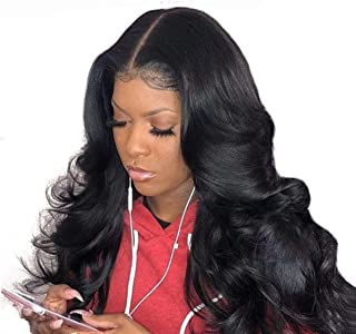 Beauhair Lace Front Wigs Human Hair Body Wave Lace Front Human Hair Wigs Pre Plucked 4X4 Closure Lace Front Wigs with Baby Hairs Natural Color(20inch)