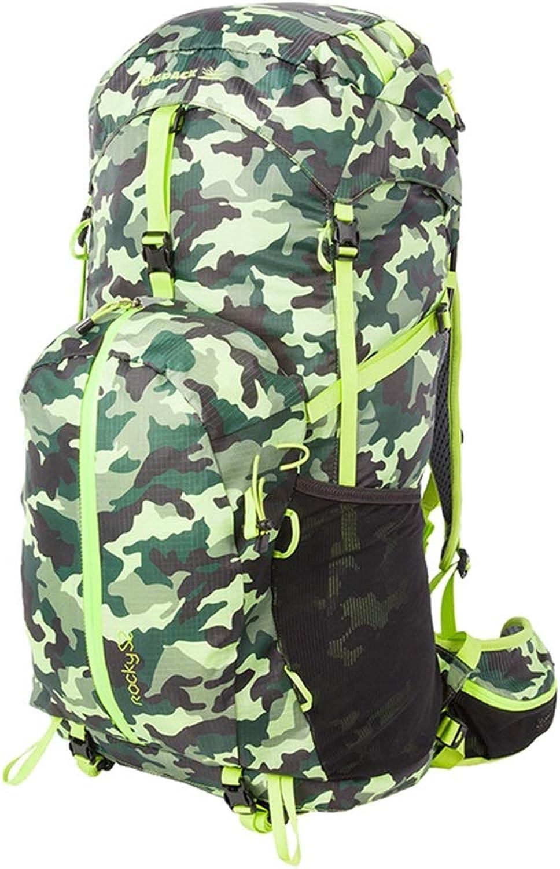 QRFDIAN Picknick-Rucksack Outdoor-Rucksack Bergsteigenbeutel Wanderrucksack kommt mit Regenschutz 52L für Familiencamping im Freien