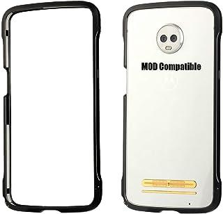 Moto Z3 Case, Moto Z3 Play Case Bumper Moto Mods Compatible Luxury Aluminum Metal Shockproof Case (Black)