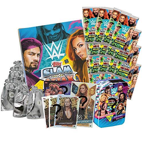 2020 Adventskalender WWE Slam Attax Reloaded Sammelkarten & mehr Deluxe