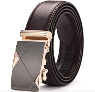 Gold Leather Belt For Men
