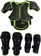 Takuey Kids Motorcycle Armor Suit Dirt Bike Chest Spine Protector Back Shoulder Arm Elbow Knee Protector Motocross Racing Skiing Skating Body Armor Vest Sports Safety Pads 3 Colors