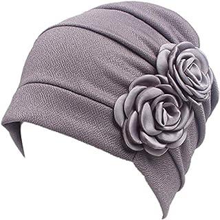 WETOO Women Chemo Hat Beanie Flower Headscarf Turban Headwear for Cancer