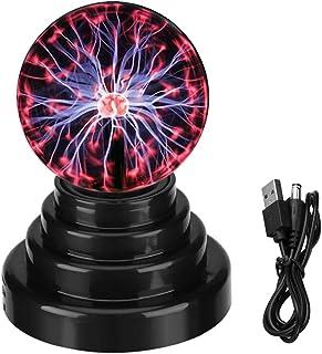 Lámpara de plasma de bola de plasma, sensible al tacto, USB o funciona con pilas, regalo novedoso luz ambiental