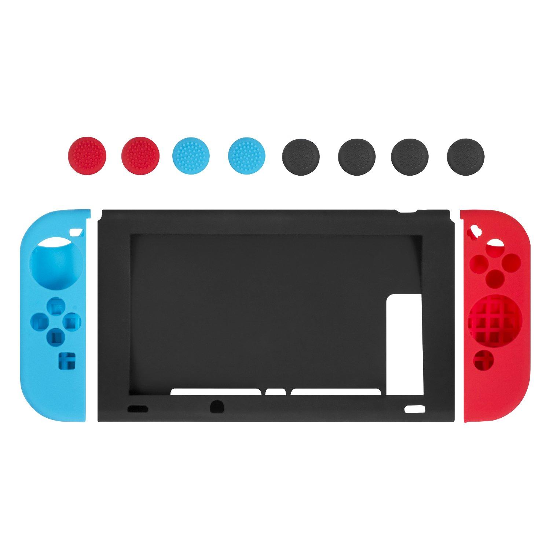 Funda de Silicona para Nintendo Switch, Keten Protector Antideslizante de Silicona para Mandos Joy-con de Nintendo Switch (Rojo/Azul), Tapas Joystick y Cubierta Protectora de Silicona para Consola: Amazon.es: Electrónica