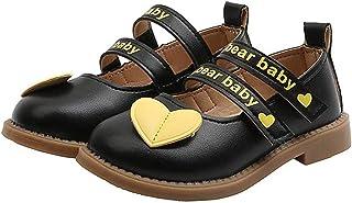 Zapatos de Cuero para niños Ligeros Antideslizantes Suela Suave Punta Redonda Zapatos de Princesa Fiesta para niñas Zapato...