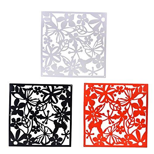 12 x Pantalla Colgante Tabique Separador de Ambientes Cortina Divisores Muebles Arte Flor Mariposa Adorno Salón Hogar