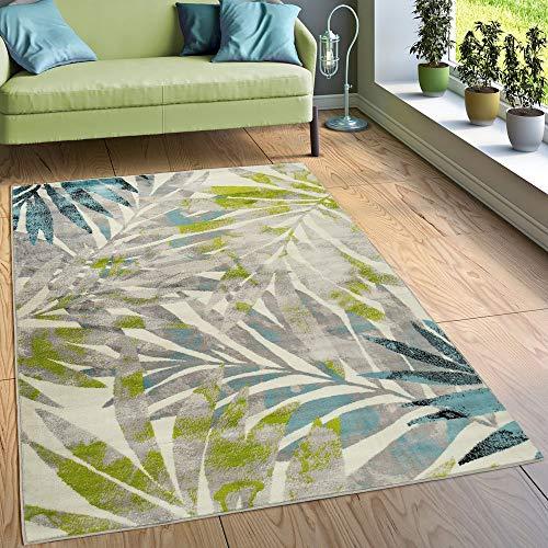 Paco Home Designer Teppich Wohnzimmer Ausgefallen Farbkombination Jungle Design Mehrfarbig,...