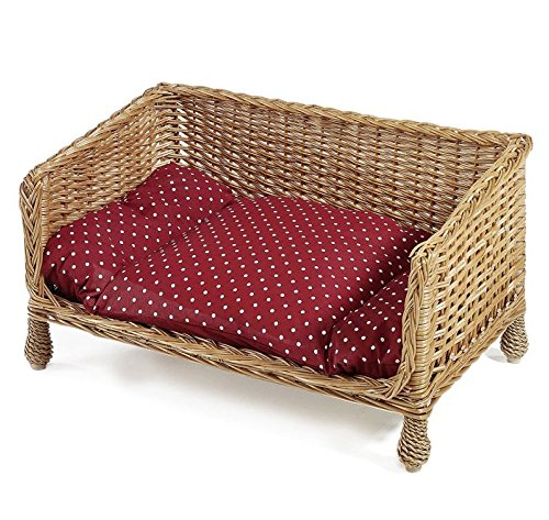 Aumüller Hand-Woven Wicker Dog & Cat Sofa - A Cosy Basket For Your Dog To Snooze And Chill Out