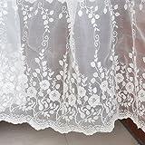 vendita per cantiere (90 cm)IRIZCO Tessuto floreale in pizzo ricamato a fiori di vite Off White Tessuto da sposa, pizzo ricamato francese, tessuto da sposa, pizzo da abito da sposa, tessuto per tende