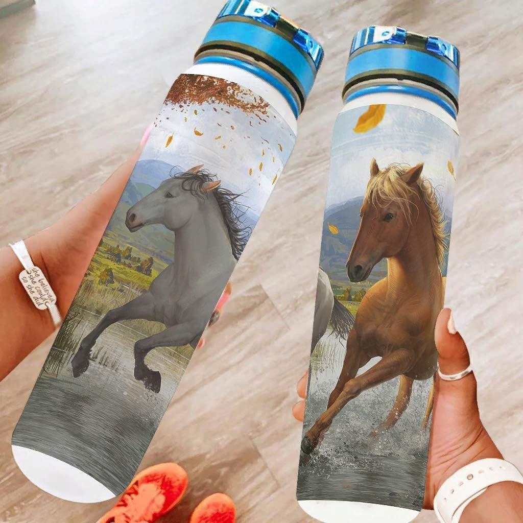 Generic Branded Ejecutar caballo deportes botella de agua grande botella de agua a prueba de fugas regalos para amigos día de San Valentín