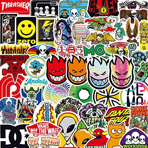 Stickers Skate | 50 Pcs Cool Stickers and Decal | Skateboard Waterproof Stickers, Spitfire Waterproof Sticker