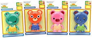 Little Treasures Fun Squeaking Bathtub Floating Toys Garden Bath Toys for Toddlers, 4 Piece