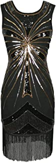 Beaded Sequin Fringe 1920's 20s Themed Party Dresses Clothing Costumes