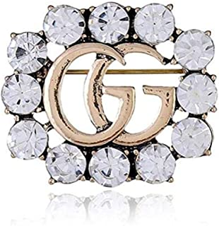 Crystal Brooch, Wedding Party Jewelry Flower Brooch Pin for Women