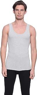Dice Solid Round-Neck Sleeveless Undershirt for Men