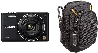 Panasonic Lumix DMC-SZ10 - Cámara compacta 16 MP (Pantalla de 2.7 Zoom óptico 12x vídeo HD WiFi) Color Negro (versión importada) + AmazonBasics - Funda para cámaras compactas (tamaño mediano)